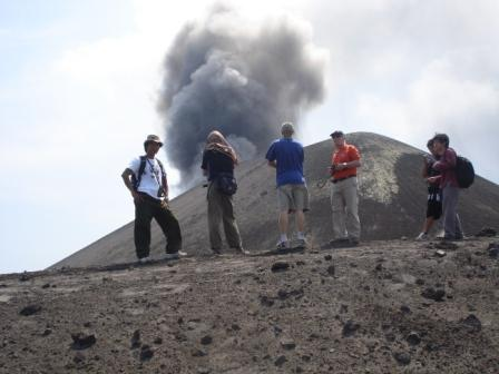 At Elevation of tour Anak Krakatau